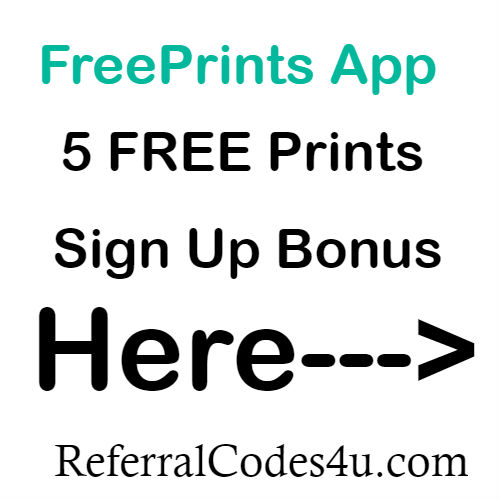 Freeprints App Sign up Bonus 2020